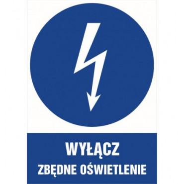 Znak - Wyłącz zbędne oświetlenie HE022
