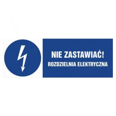 Znak - Nie zastawiać, rozdzielnia elektryczna HF021