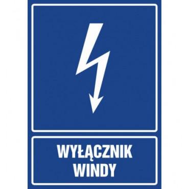 Znak - Wyłącznik windy HG037