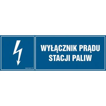 Znak - Wyłącznik prądu stacji paliw HH020