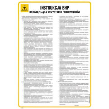 Instrukcja ogólna BHP obowiązująca wszystkich pracowników