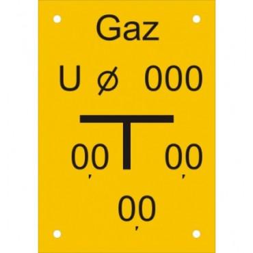 Znak - Tablica zawieradła mechanicznego na rurociągu upustowym JC005