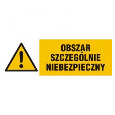 Znak - Obszar szczególnie niebezpieczny NA006