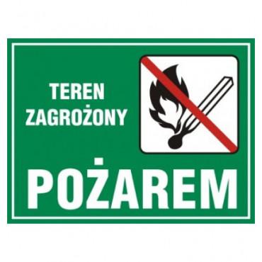 Znak - Teren zagrożony pożarem OB004