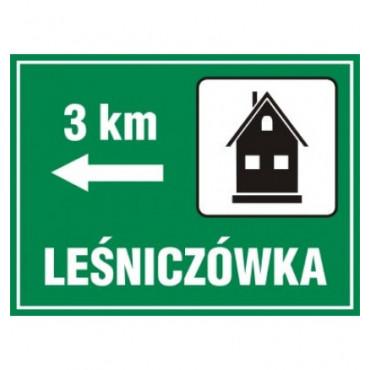 Znak - Lesniczówka - odległość OC001