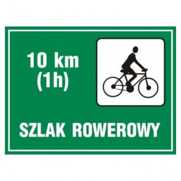 Znak - Szlak rowerowy długość OC005