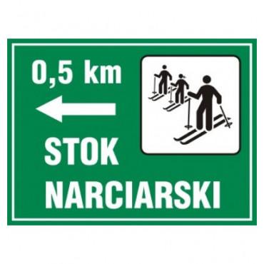 Znak - Kierunek na stok narciarski OC006