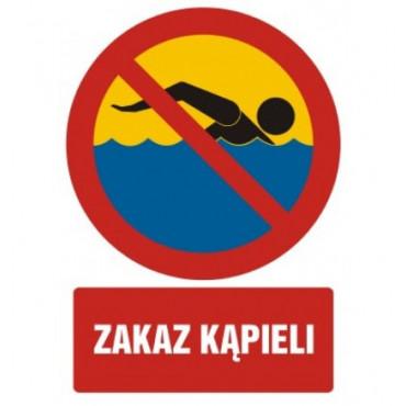 Zakaz kąpieli - znak