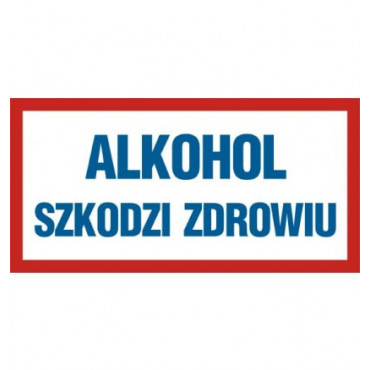 Znak - Alkohol szkodzi zdrowiu ND002