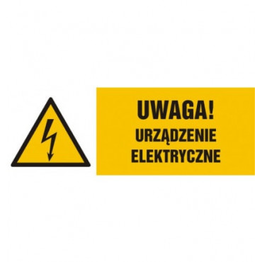 Znak - Uwaga, urządzenie elektryczne HB020