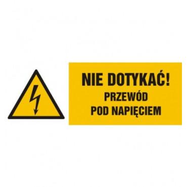 Znak - Nie dotykać, przewód pod napięciem HB021