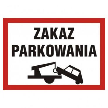 Znak - Zakaz parkowania ND054