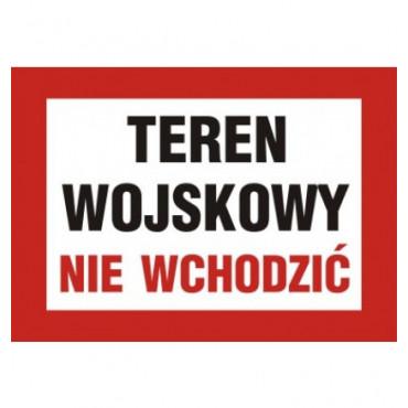 Znak - Teren wojskowy nie wchodzić JE002