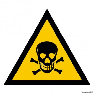 Znak - Ostrzeżenie przed substancjami toksycznymi JA001