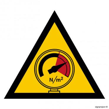 Znak - Ostrzeżenie przed wysokim ciśnieniem JA006