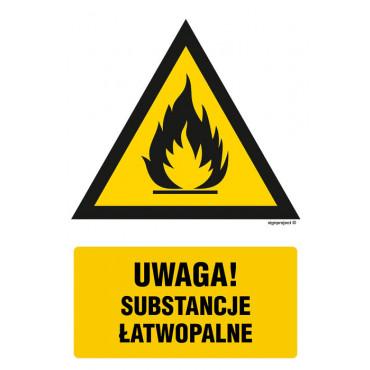 Znak - Ostrzeżenie przed substancjami łatwopalnymi JA011