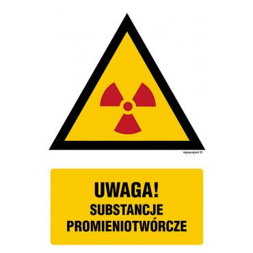 Znak - Ostrzeżenie przed substancjami promieniotwórczymi JA013
