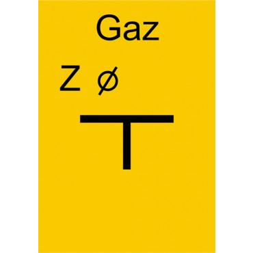 Znak - Tablica zawieradła mechanicznego na gazociągu JC001