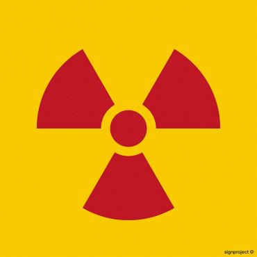 Znak ostrzegawczy do oznakowania opakowania bezpośredniego otwartego źródła promieniowania