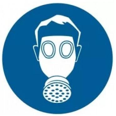 Nakaz stosowania ochrony dróg oddechowych.