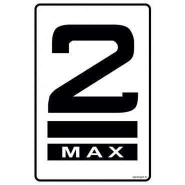 Znak - Składować w co najwyżej dwóch warstwach (określenie ilości warstw wg zamówienia) MA005