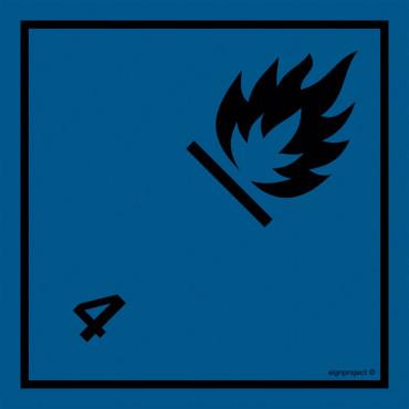 Materiały wytwarzające w kontakcie z wodą gazy zapalne. Klasa 4.