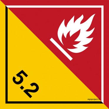 Znak - Substancje i przedmioty wybuchowe. Klasa 1. Podklasa 1.3. MB035