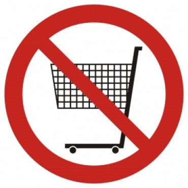 Zakaz wchodzenia z wózkiem