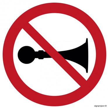 Zakaz używania synału dźwiękowego