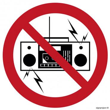 Zakaz używania urządzeń nagłaśniających i radia w sposób uciążliwy