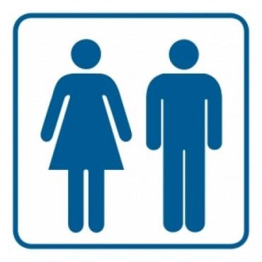 Znak - Toaleta damsko-męska 1 RA017