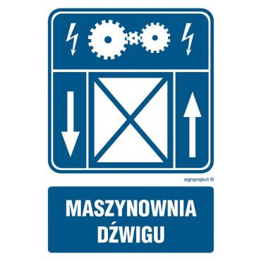Znak - Maszynownia dźwigu RB019