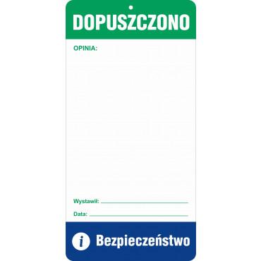 Znak - Dopuszczono RG101