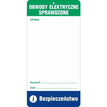Znak - Obwody elektryczne sprawdzone RG102
