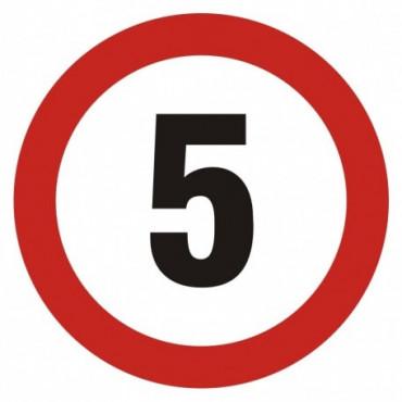 Znak - Ograniczenie prędkości 5 SA003