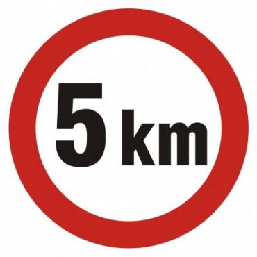 Znak - Ograniczenie prędkości 5 km SA005