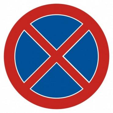 Znak - Zakaz zatrzymywania się SA011