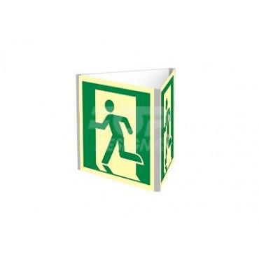 Znak - Wyjście ewakuacyjne lewostronne(D-SIGN dościenny) AE801